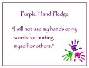 Purple Hand Pledge