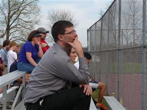 Watching one of over a hundred matches while coaching