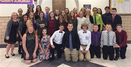 National Junior Honor Society new members