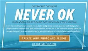 Distracted driving is never ok.