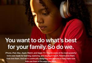 Apple creates site for families