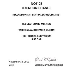 BOE meeting change