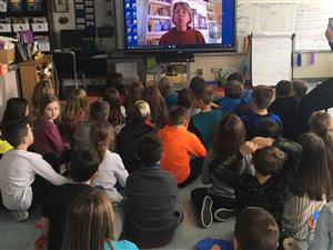 3rd Grade Skype with author