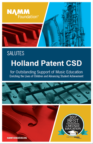 NAMM Foundation Salutes Holland Patent CSD